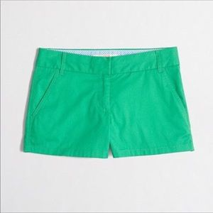"J. Crew Factory Short in Green 3"" Size: 00"